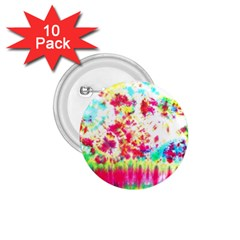 Pattern Decorated Schoolbus Tie Dye 1 75  Buttons (10 Pack)