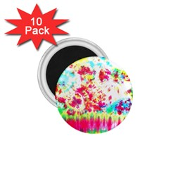 Pattern Decorated Schoolbus Tie Dye 1 75  Magnets (10 Pack)