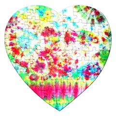 Pattern Decorated Schoolbus Tie Dye Jigsaw Puzzle (heart)