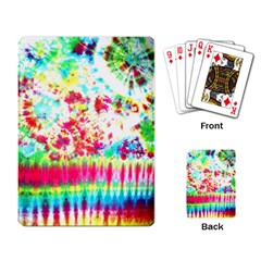 Pattern Decorated Schoolbus Tie Dye Playing Card