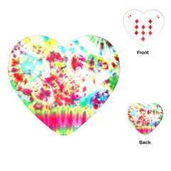 Pattern Decorated Schoolbus Tie Dye Playing Cards (heart)