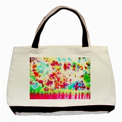 Pattern Decorated Schoolbus Tie Dye Basic Tote Bag (two Sides)