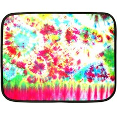 Pattern Decorated Schoolbus Tie Dye Fleece Blanket (mini)
