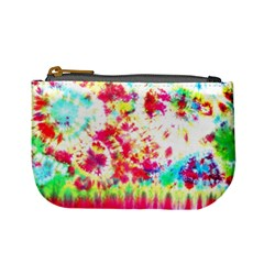 Pattern Decorated Schoolbus Tie Dye Mini Coin Purses
