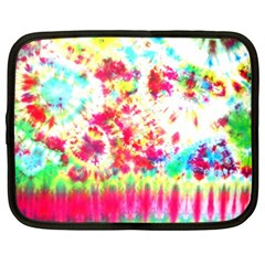 Pattern Decorated Schoolbus Tie Dye Netbook Case (xxl)
