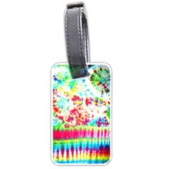Pattern Decorated Schoolbus Tie Dye Luggage Tags (one Side)