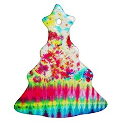 Pattern Decorated Schoolbus Tie Dye Christmas Tree Ornament (two Sides)