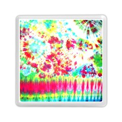Pattern Decorated Schoolbus Tie Dye Memory Card Reader (square)