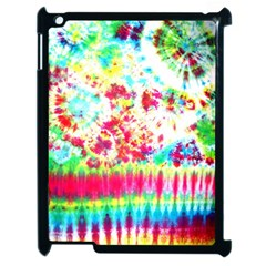 Pattern Decorated Schoolbus Tie Dye Apple Ipad 2 Case (black)