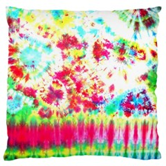 Pattern Decorated Schoolbus Tie Dye Large Cushion Case (one Side)