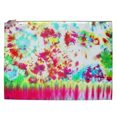 Pattern Decorated Schoolbus Tie Dye Cosmetic Bag (xxl)