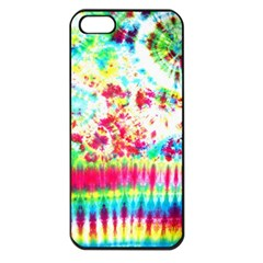 Pattern Decorated Schoolbus Tie Dye Apple Iphone 5 Seamless Case (black)