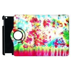 Pattern Decorated Schoolbus Tie Dye Apple Ipad 2 Flip 360 Case