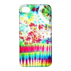 Pattern Decorated Schoolbus Tie Dye Apple Iphone 4/4s Hardshell Case With Stand