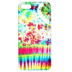 Pattern Decorated Schoolbus Tie Dye Apple Iphone 5 Hardshell Case With Stand