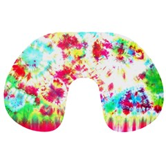 Pattern Decorated Schoolbus Tie Dye Travel Neck Pillows