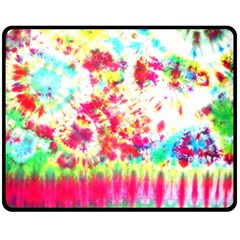 Pattern Decorated Schoolbus Tie Dye Double Sided Fleece Blanket (medium)