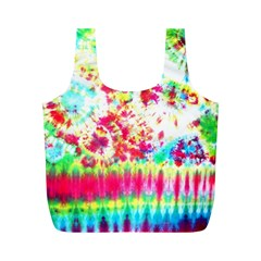 Pattern Decorated Schoolbus Tie Dye Full Print Recycle Bags (m)