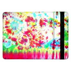 Pattern Decorated Schoolbus Tie Dye Samsung Galaxy Tab Pro 12 2  Flip Case