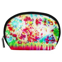 Pattern Decorated Schoolbus Tie Dye Accessory Pouches (large)