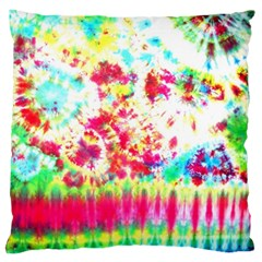 Pattern Decorated Schoolbus Tie Dye Large Flano Cushion Case (two Sides)