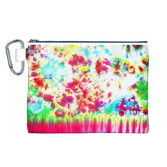 Pattern Decorated Schoolbus Tie Dye Canvas Cosmetic Bag (l)