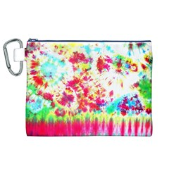 Pattern Decorated Schoolbus Tie Dye Canvas Cosmetic Bag (xl)