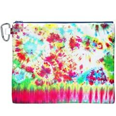 Pattern Decorated Schoolbus Tie Dye Canvas Cosmetic Bag (xxxl)