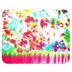 Pattern Decorated Schoolbus Tie Dye Double Sided Flano Blanket (medium)
