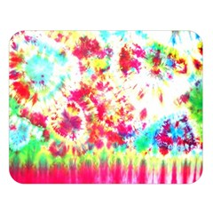 Pattern Decorated Schoolbus Tie Dye Double Sided Flano Blanket (large)