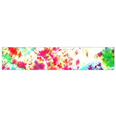 Pattern Decorated Schoolbus Tie Dye Flano Scarf (small)