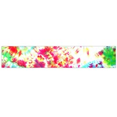Pattern Decorated Schoolbus Tie Dye Flano Scarf (large)