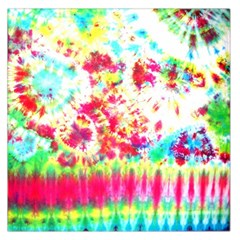 Pattern Decorated Schoolbus Tie Dye Large Satin Scarf (square)