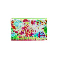 Pattern Decorated Schoolbus Tie Dye Cosmetic Bag (xs)