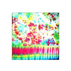 Pattern Decorated Schoolbus Tie Dye Satin Bandana Scarf