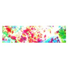 Pattern Decorated Schoolbus Tie Dye Satin Scarf (Oblong)