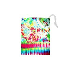Pattern Decorated Schoolbus Tie Dye Drawstring Pouches (xs)