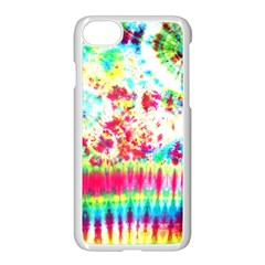 Pattern Decorated Schoolbus Tie Dye Apple Iphone 7 Seamless Case (white)