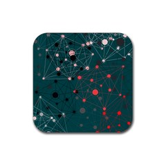 Pattern Seekers The Good The Bad And The Ugly Rubber Coaster (square)