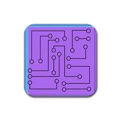 Peripherals Rubber Coaster (square)