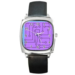 Peripherals Square Metal Watch