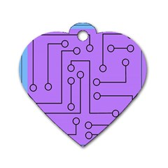 Peripherals Dog Tag Heart (two Sides)