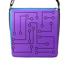 Peripherals Flap Messenger Bag (l)