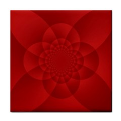 Psychedelic Art Red  Hi Tech Tile Coasters
