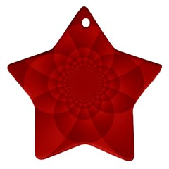 Psychedelic Art Red  Hi Tech Ornament (star)