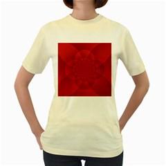 Psychedelic Art Red  Hi Tech Women s Yellow T Shirt