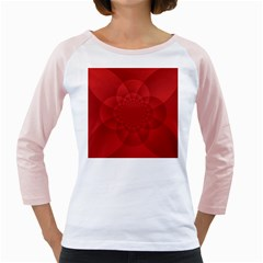 Psychedelic Art Red  Hi Tech Girly Raglans
