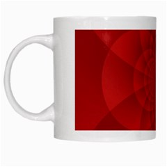 Psychedelic Art Red  Hi Tech White Mugs