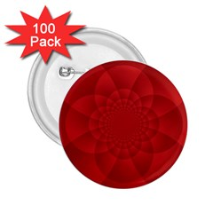 Psychedelic Art Red  Hi Tech 2 25  Buttons (100 Pack)