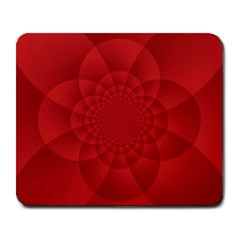 Psychedelic Art Red  Hi Tech Large Mousepads